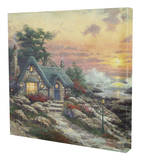 Cottage by the Sea Stretched Canvas Print by Thomas Kinkade