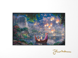 Tangled Matted Print by Thomas Kinkade