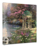 Garden of Prayer Stretched Canvas Print by Thomas Kinkade