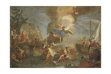 Saints Cosmas and Damian Saved by Angels Giclée-tryk af Antonio Balestra