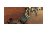 Dancers Going Up the Stairs Giclee Print by Edgar Degas