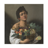 Fruit Seller (Boy with Basket of Fruit) Giclee Print by  Caravaggio