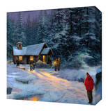 Christmas Miracle Stretched Canvas Print by Thomas Kinkade