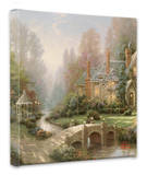 Beyond Spring Gate Stretched Canvas Print by Thomas Kinkade
