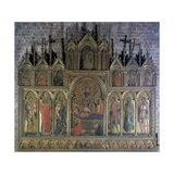 Polyptych with the Death of the Virgin Giclee Print by Lorenzo Veneziano