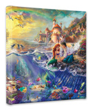 Little Mermaid Stretched Canvas Print by Thomas Kinkade