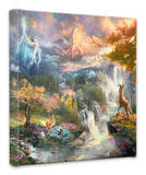 Bambi's First Years Stretched Canvas Print by Thomas Kinkade