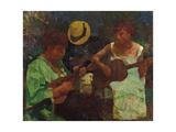Mandolinata (Mandolin Sonata) Giclee Print by Edgardo Curcio