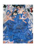 La Danseuse Bleue Giclée-trykk av Gino Severini