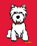 Westie on Red Posters par Marc Tetro