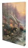 Sweetheart Cottage II Stretched Canvas Print by Thomas Kinkade