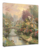 Lamplight Bridge Stretched Canvas Print by Thomas Kinkade