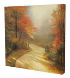 Autumn Lane Stretched Canvas Print by Thomas Kinkade