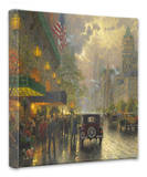 New York 5th Avenue Stretched Canvas Print by Thomas Kinkade