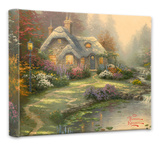 Everett's Cottage Stretched Canvas Print by Thomas Kinkade