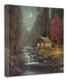 Away From it All Stretched Canvas Print by Thomas Kinkade