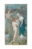 Decorative Canvass for the Town House of Madame Vignon, History Giclee Print by Pierre Puvis de Chavannes