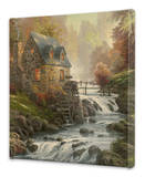 Cobblestone Mill Stretched Canvas Print by Thomas Kinkade