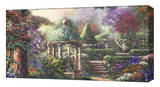Gazebo of Prayer Stretched Canvas Print by Thomas Kinkade