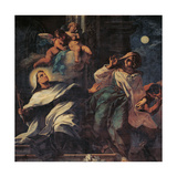 The Temptation of St Albert the Carmelite Giclee Print by Santo Piatti