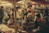 The Old Fish Market Giclee Print by Ettore Tito