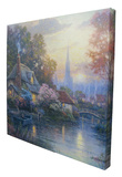 Nanette's Cottage Stretched Canvas Print by Thomas Kinkade