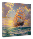 Courageous Voyage Stretched Canvas Print by Thomas Kinkade