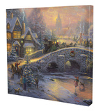 Spirit of Christmas Stretched Canvas Print by Thomas Kinkade