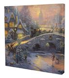 Spirit of Christmas Stretched Canvas Print by Thomas Kinkade
