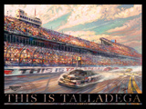 This is Talladega Poster by Thomas Kinkade