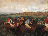 The Gentlemen's Race Before the Start Giclee Print by Edgar Degas