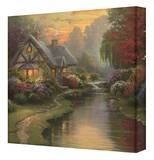 A Quiet Evening Stretched Canvas Print by Thomas Kinkade