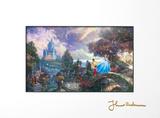 Cenicienta pide un deseo en un sueño|Cinderella Wishes Upon a Dream Lámina con paspartú por Thomas Kinkade