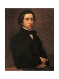 Portrait of the Artist Giclee Print by Edgar Degas