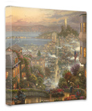 SF Lombard Street Stretched Canvas Print by Thomas Kinkade