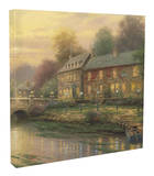 Lamplight Inn Stretched Canvas Print by Thomas Kinkade