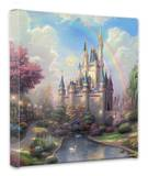A New Day at Cinderella's Castle Stretched Canvas Print by Thomas Kinkade