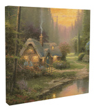 Meadowood Cottage Stretched Canvas Print by Thomas Kinkade