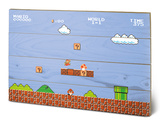 Super Mario Bros. 1-1 Wood Sign Targa di legno