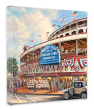 Wrigley Field: Memories and Dreams Stretched Canvas Print by Thomas Kinkade