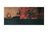 Red Black and Burning Giclee Print by Alberto Burri