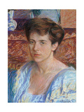 Portrait of Blanche Perivier Giclée-tryk af Gino Severini