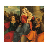 Sacred Conversation, Sacred Family with St Catherine and St John the Baptist Giclee Print by Palma the Elder