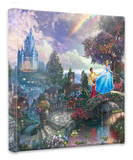 Cinderella Wishes Upon a Dream Stretched Canvas Print by Thomas Kinkade