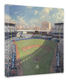 Yankee Stadium Stretched Canvas Print by Thomas Kinkade