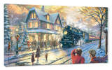 All Aboard for Christmas Stretched Canvas Print by Thomas Kinkade