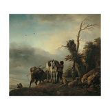 Landscape with Figures Giclee Print by Philips Wouwermans