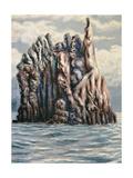 Sicilian Rock Giclee Print by Alberto Savinio