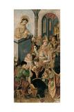 St Francis Preaching Giclee Print by Maestro di Castelsardo