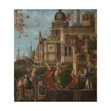 Legend of St Ursula, Meeting and Departure of the Betrothed Giclee Print by Vittore Carpaccio